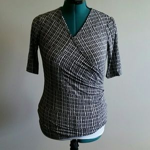 GOOD used condition wrap front blouse size medium
